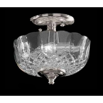 Crystorama Historical Brass Lead Crystal Semi Flush Mount