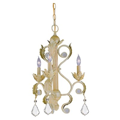 <strong>Crystorama</strong> Winslow 3 Light Mini Chandelier