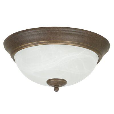 Standard Alabaster Step Pan Flush Mount
