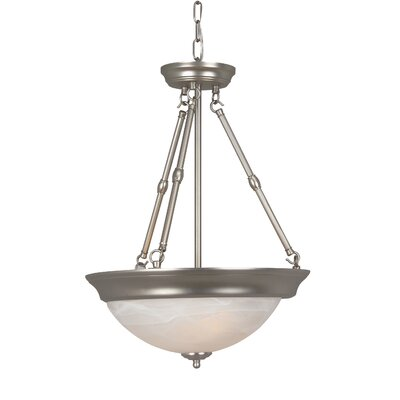 Jeremiah Standard Alabaster Step Pan 3 Light Pendant