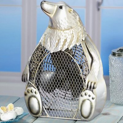 Deco Breeze Polar Bear Figurine Table Top Fan