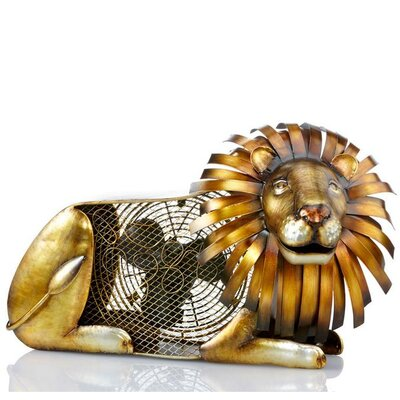 Lion Figurine Table Top Fan