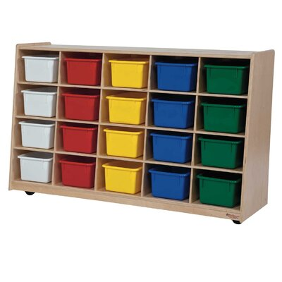 Wood Designs Tip-Me-Not 20 Compartment Cubby