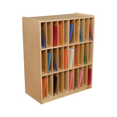 Wood Designs Slot Mail/Portfolio Center 30 Compartment Cubby