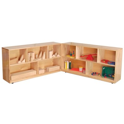 "Wood Designs 24"" Maple Folding Storage Unit"