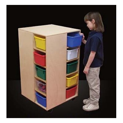 Wood Designs Cubby Spinner 10 Compartment Cubby