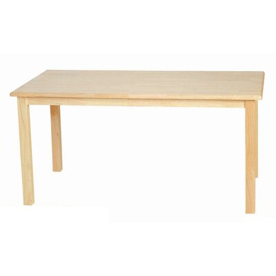 "Wood Designs 20"" Leg Rectangular Table"