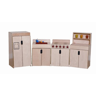Wood Designs Tip-Me-Not 4 Piece Deluxe Appliances Set