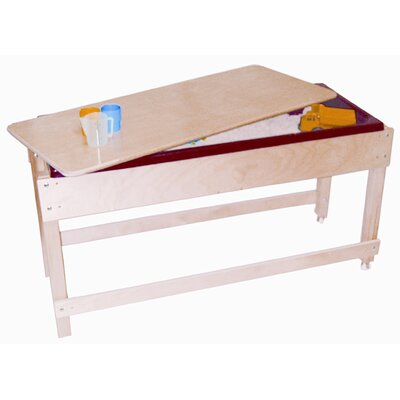 Wood Designs Sand and Water Table with Top and Shelf