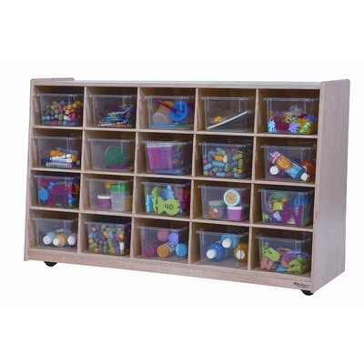 Wood Designs Tip-Me-Not Twenty Tray Storage Unit