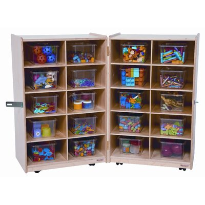 Wood Designs Folding Vertical Storage Unit 20 Compartment Cubby