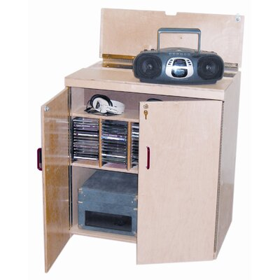 Wood Designs Lock-It-Up Center Audio Cabinet