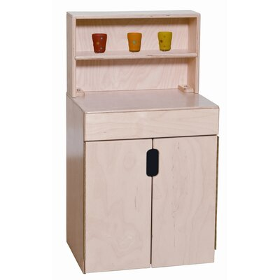 Wood Designs Tip-Me-Not Deluxe Hutch
