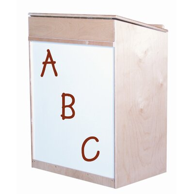 Wood Designs Sign In Center 24 Compartment Cubby