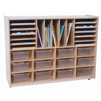 Wood Designs Twelve Tray Multi Sectioned Storage Unit