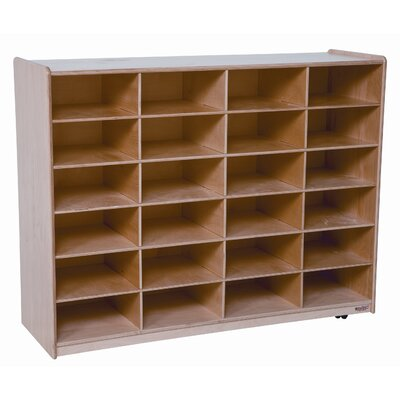 Wood Designs Twenty Four Large Tray Storage Unit with No Trays