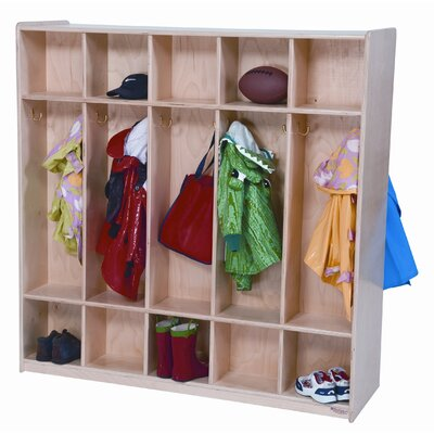 Wood Designs Ten Section Double Locker