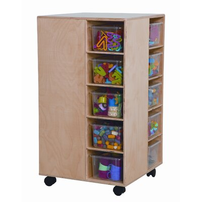 Wood Designs Space Saver Cubby Spinner with Clear Trays
