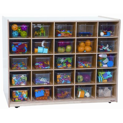 Wood Designs Mobile Island 25 Compartment Cubby