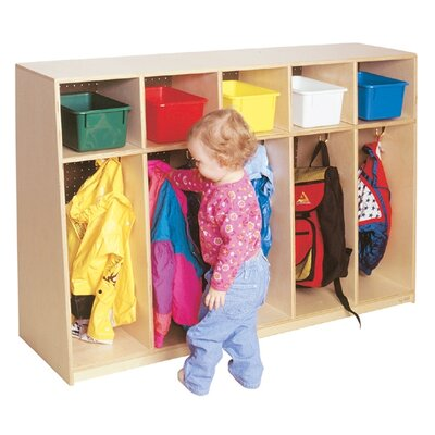 Wood Designs Tip-Me-Not Five Section Locker