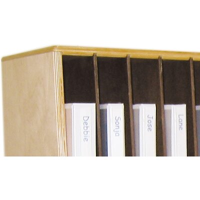 Wood Designs Tip-Me-Not Portfolio Storage Unit 32 Compartment Cubby