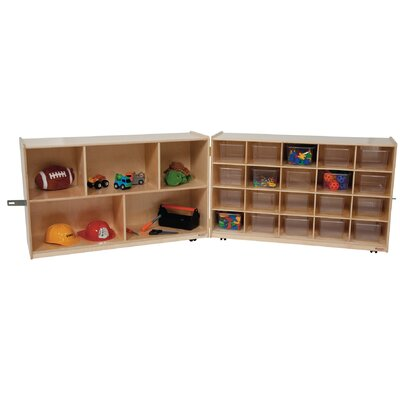 Wood Designs Half and Half Twenty Tray Storage Unit