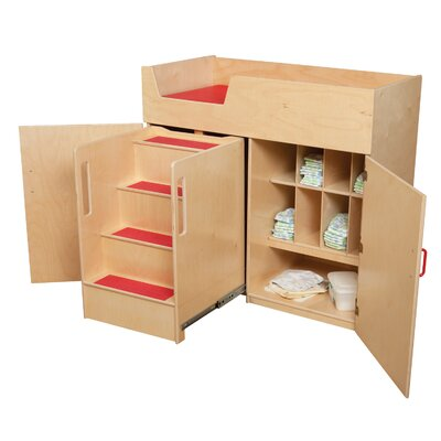 Wood Designs Deluxe Infant Care Center with Safety Steps