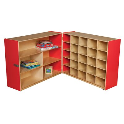 Wood Designs Tray and Shelf Fold Storage Unit without Trays