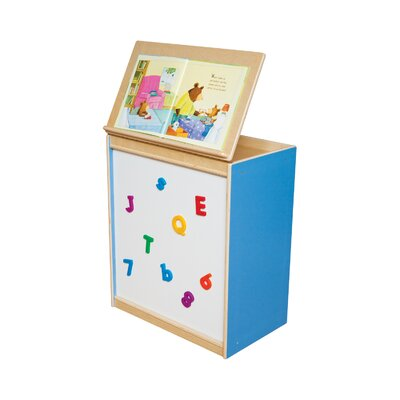 Wood Designs Big Book Display with Magnetic Markerboard