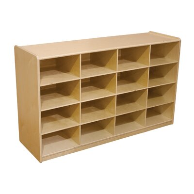 "Wood Designs Storage Unit with 5"" 16 Letter Trays"
