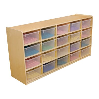 "Wood Designs Storage Unit with 5"" 20 Letter Trays"