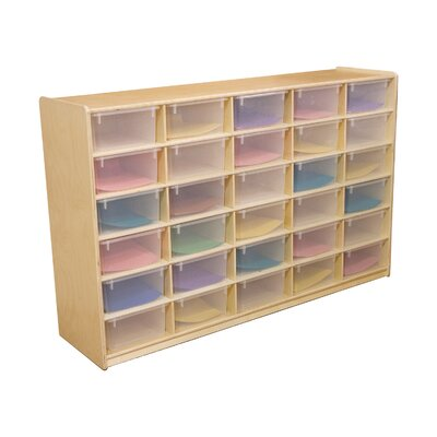 "Wood Designs Storage Unit with 5"" 30 Letter Trays"