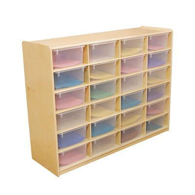 "Wood Designs Storage Unit with 5"" 24 Letter Trays"