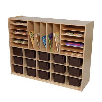 Wood Designs Natural Environment Multi Storage Unit with Chocolate Trays