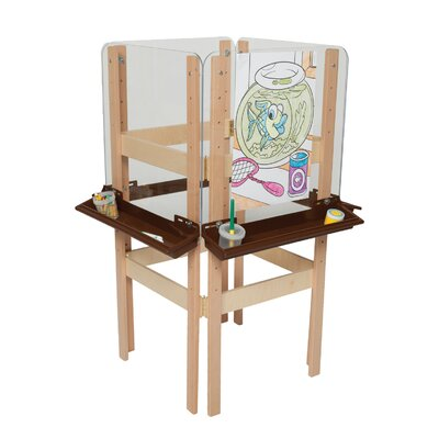 Wood Designs Natural Environment 4-Sided Easel with Brown Tray