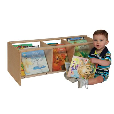 "Wood Designs Natural Environment See-All Toddler 12"" Book Display"
