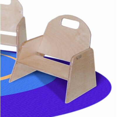 "Wood Designs Woodie 5""  Plywood Classroom Stackable Tot Chair"