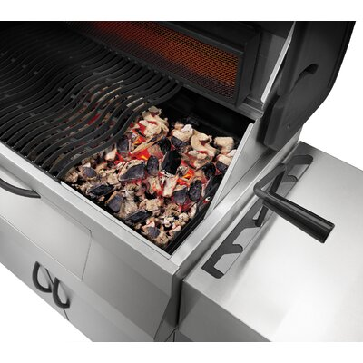 Napoleon Mirage Charcoal Grill with Stainless Steel Car
