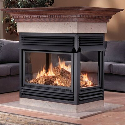Island Vent Free Gas Fireplace
