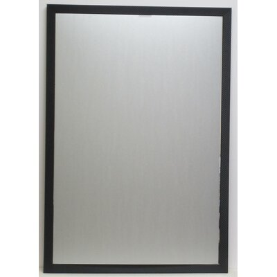 Carbon Framed Wall Mirror with Bevel
