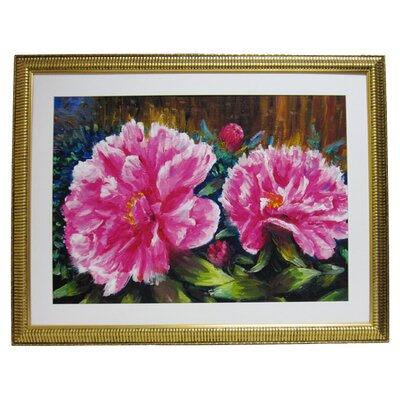 Alpine Art and Mirror Premier Blooming Peony Wall Art
