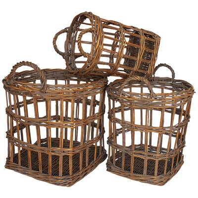 White x White Antwerp Basket (Set of 3)