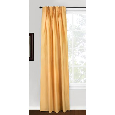 Eileen West Silk 3 Pinch Pleat Window Panel