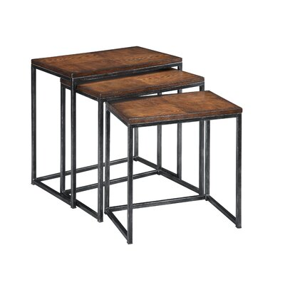 Coast To Imports 3 Piece Nesting Table Set In Brown