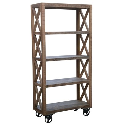 "Coast to Coast Imports LLC 72.5"" Trolley Bookcase"
