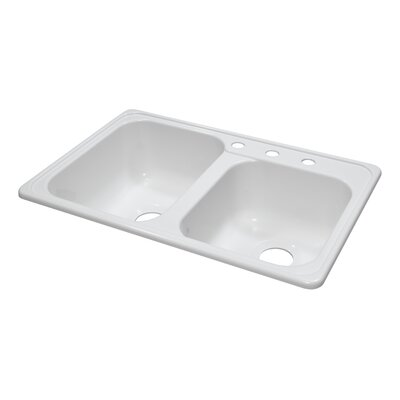 "Lyons Industries Deluxe 31"" x 20.5"" x 8"" Kitchen Sink"