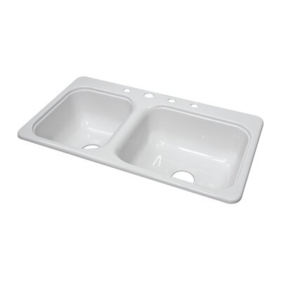 "Lyons Industries Deluxe 33"" x 19"" x 8"" Kitchen Sink"