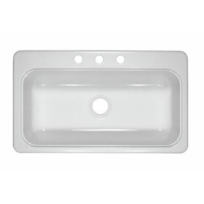 Lyons Industries Deluxe 19 Designer Single Bowl Self Rimming Kitchen Sink Reviews Wayfair
