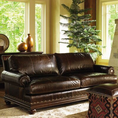 Lexington Fieldale Lodge Chambers Leather Sofa