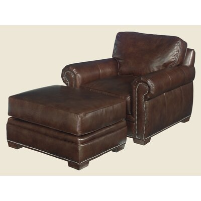 Lexington Griffin Leather Chair and Ottoman